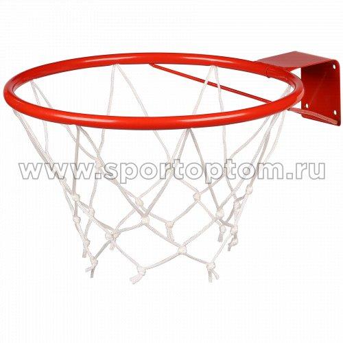 Кольцо баскетбольное с сеткой (труба) AN-10 №5 (380 мм) Красный