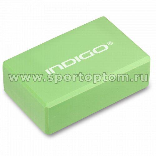 Блок для йоги INDIGO   6011 HKYB 22,8*15,2*7,1 см Салатовый