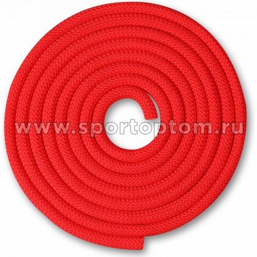 Скакалка для художественной гимнастики Утяжеленная 150 г INDIGO SM-121 2,5 м Красный