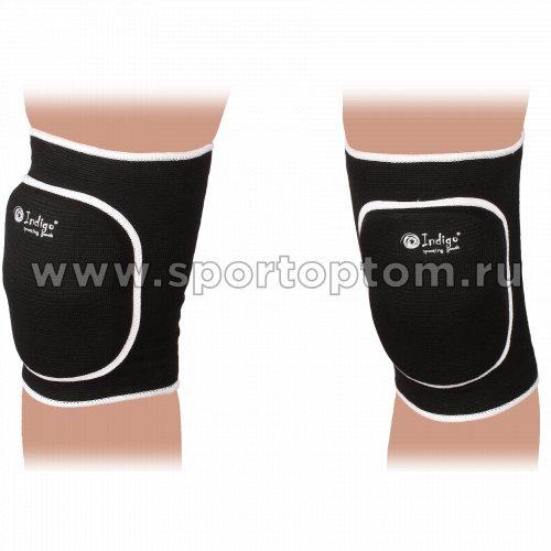 Наколенник волейбольный изогнутый INDIGO 2009С-TSE Черный