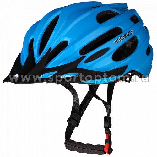 Шлем велосипедный взрослый INDIGO 22 вентиляционных отверстий IN070 55-61см Синий