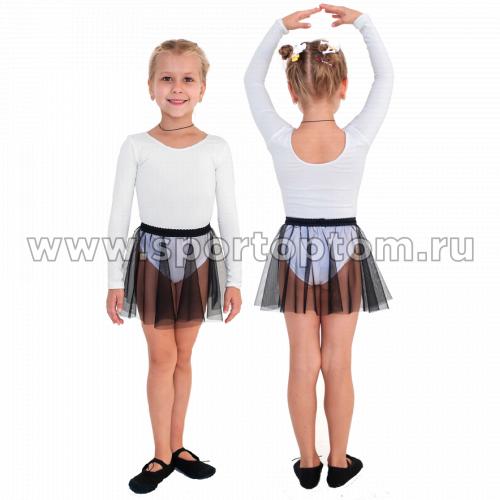 Юбочка гимнастическая сетка INDIGO SM-081 Черный