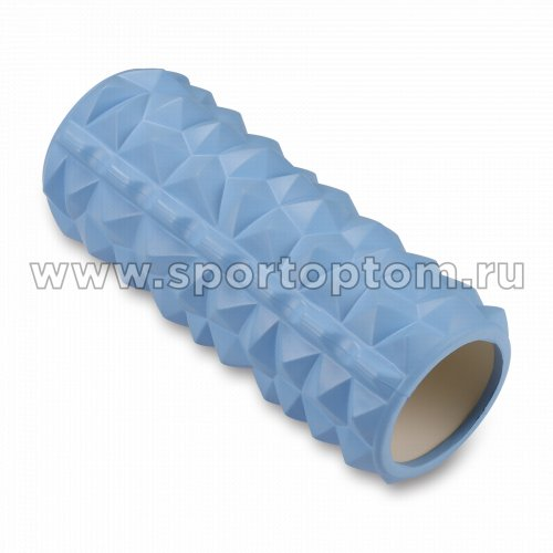 Ролик массажный для йоги INDIGO PVC IN279 33*14 см Голубой