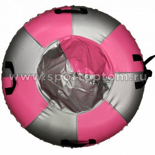 Санки Ватрушка Мега (армированный тент 600 ) SM-245 105 см Металлик-розовый