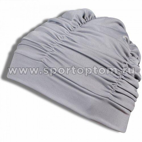 Шапочка для плавания  ткань LUCRA SM женская  с драпировкой SM-092 Серый