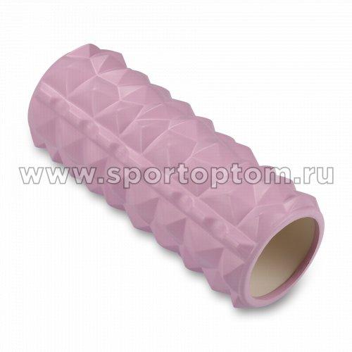 Ролик массажный для йоги INDIGO PVC IN279 33*14 см Розовый