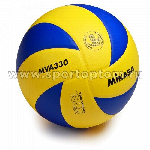 Мяч волейбольный MIKASA  тренировочный клееный MVA 330 Сине-желтый