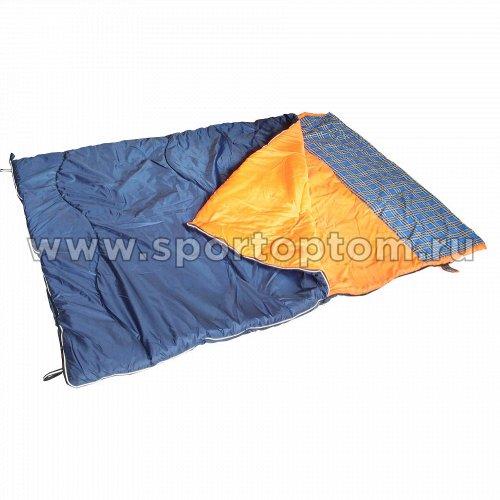Спальник SM одеяло с подголовником Дуэт +10-5 SM-311 148*218 см Сине-оранжевый