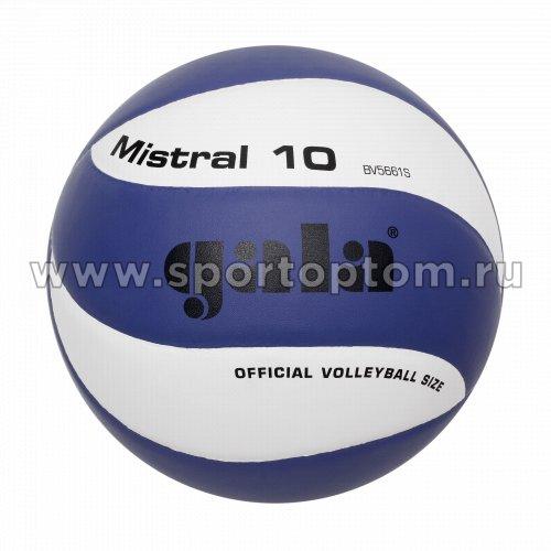 Мяч волейбольный GALA Mistral 10 тренировочный клееный (PU) BV 5661 S Сине-белый
