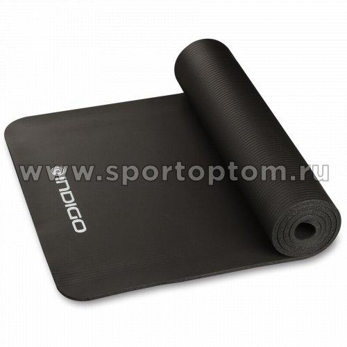 Коврик для йоги и фитнеса INDIGO NBR IN104 173*61*1 см Черный