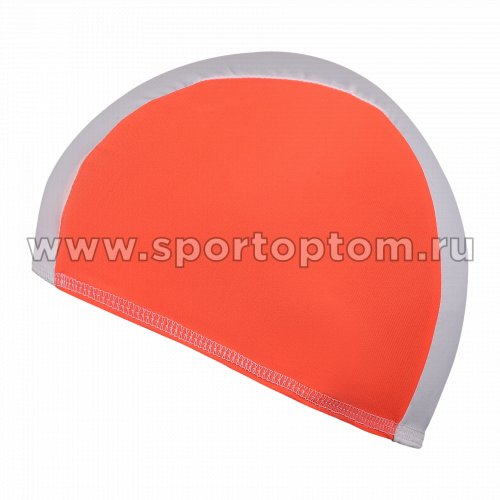 Шапочка для плавания  ткань LUCRA SM комбинированная SM-088 Бело-оранжевый