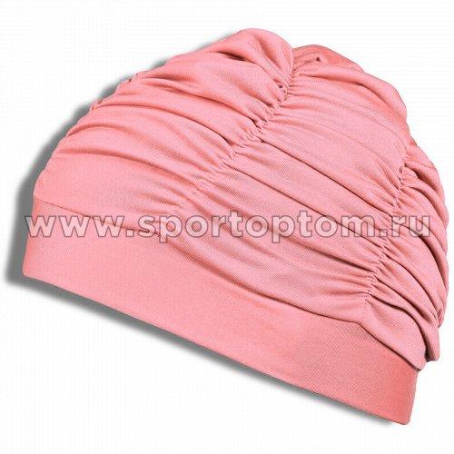 Шапочка для плавания  ткань LUCRA SM женская  с драпировкой SM-092 Розовый