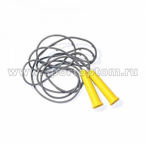 Скакалка резиновый шнур пластиковые ручки (мин.заказ 10 штук)  SM-125 3.8 м