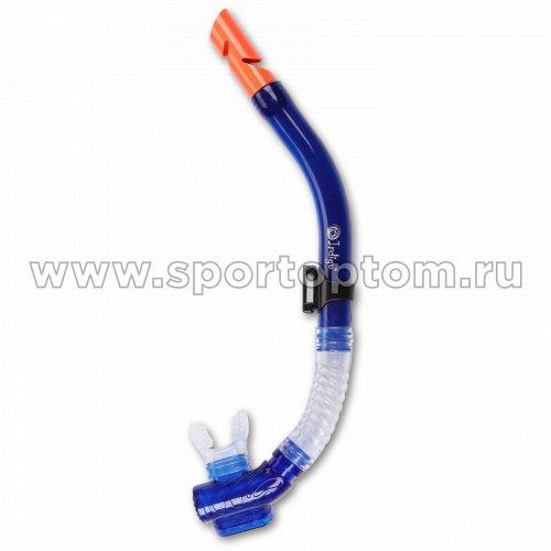 Трубка  для плавания  INDIGO взрослая с  маскодержателем IN063 Голубой