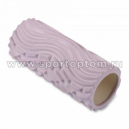 Ролик массажный для йоги INDIGO PVC Волна IN275 33*14 см Сиреневый