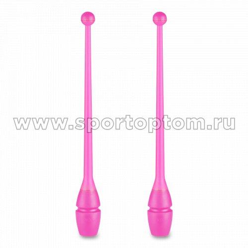Булавы для художественной гимнастики вставляющиеся INDIGO IN017 36 см Розовый
