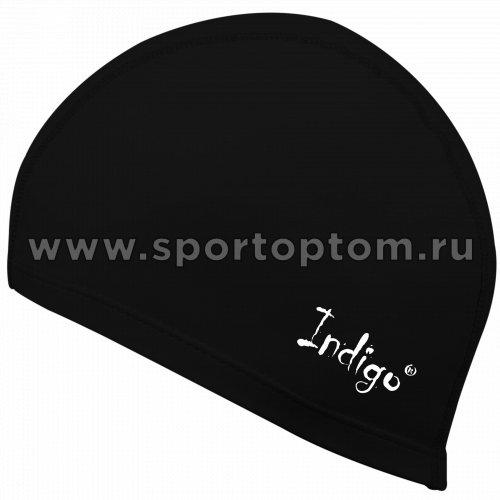 Шапочка для плавания  ткань прорезиненная с PU пропиткой INDIGO IN048 Черный