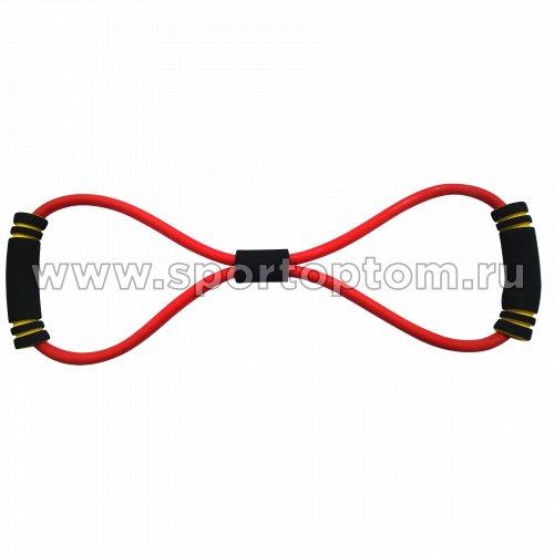 Эспандер Восьмёрка LATEX INDIGO MEDIUM 1 жгут SM-063 Красный