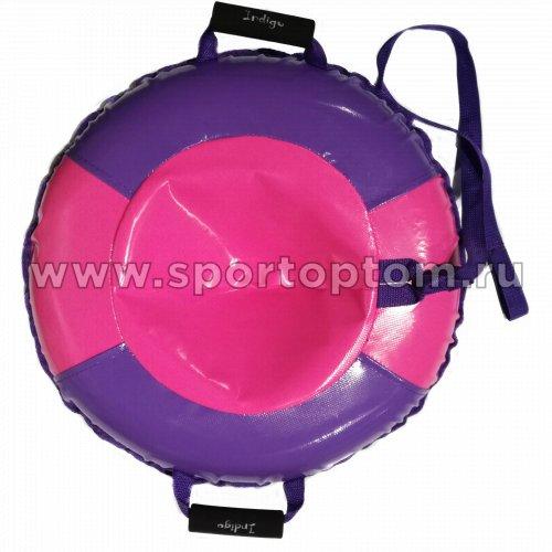Санки Ватрушка Карамелька (армированный тент 600 ) SM-244 95 см Розово-фиолетовый