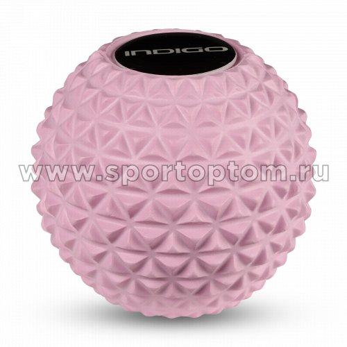 Мячик массажный для йоги INDIGO IN276 8,5 см Розовый