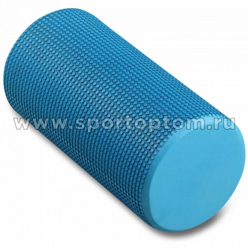 Ролик массажный для йоги INDIGO Foam roll  IN045 30*15 см Голубой