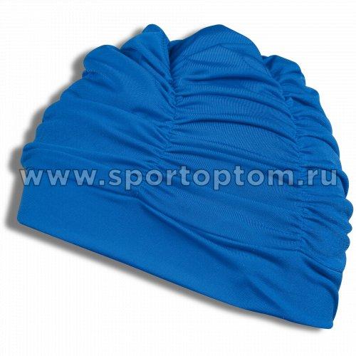 Шапочка для плавания  ткань LUCRA SM женская  с драпировкой SM-092 Синий
