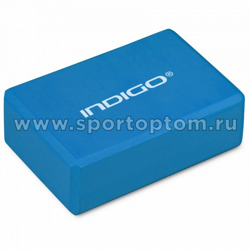 Блок для йоги INDIGO   6011 HKYB  22,8*15,2*7,6 см Голубой