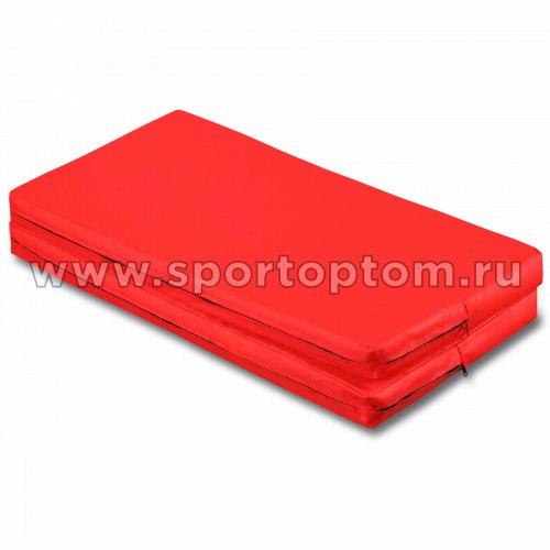 Мат гимнастический складной SM SM-108 1*1*0.08 м  Красный