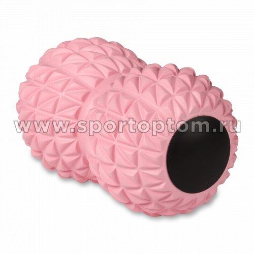 Мячик массажный двойной для йоги INDIGO IN269 18*10 см Розовый