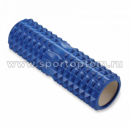 Ролик массажный для йоги INDIGO PVC IN268 45*14 см Синий