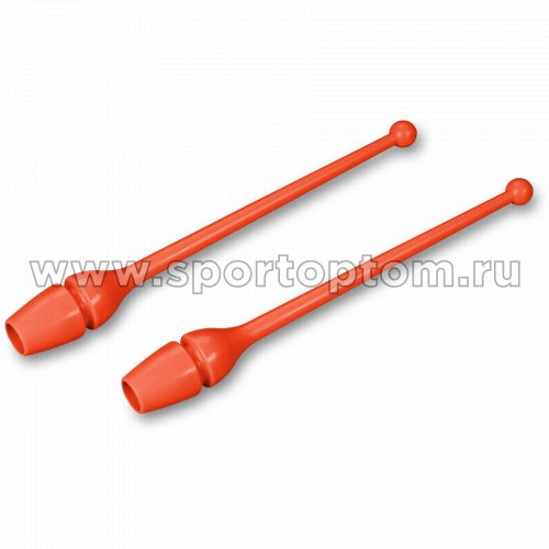 Булавы для художественной гимнастики INDIGO (термопластик) SM-352 36 см Коралловый