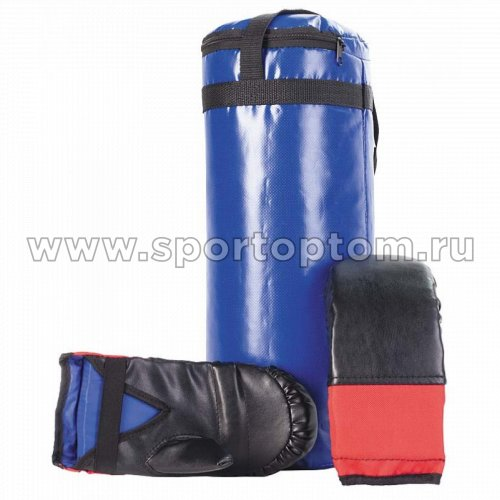 Мешок боксерский + перчатки SM-110 6 кг Синий