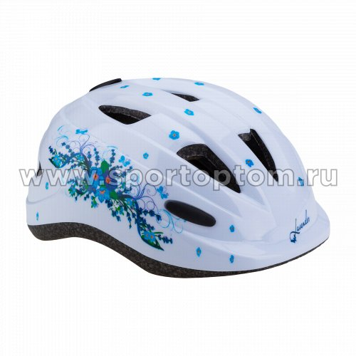 Вело Шлем детский с регулировкой Лаванда VSH 7 Белый