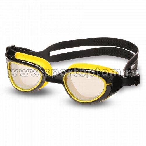 Очки для плавания INDIGO MANTIS зеркальные S997M Черно-желтый