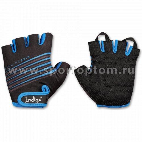Перчатки вело мужские INDIGO  SB-01-1575 Черно-синий
