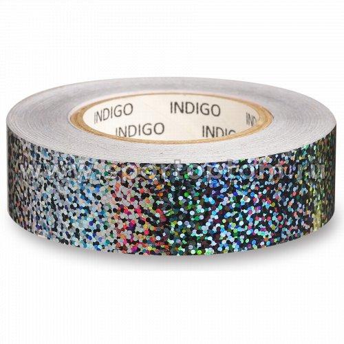 Обмотка для обруча с подкладкой INDIGO CRYSTAL IN139 20мм*14м Серебро
