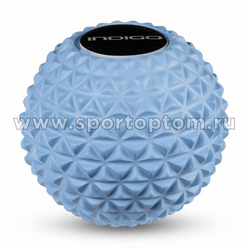 Мячик массажный для йоги INDIGO IN276 8,5 см Голубой