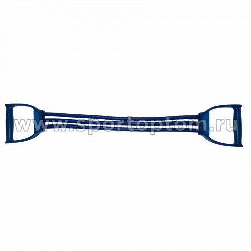 Эспандер плечевой LATEX INDIGO HEAVY (21-30 кг) 3 жгута SM-073 70 см Синий