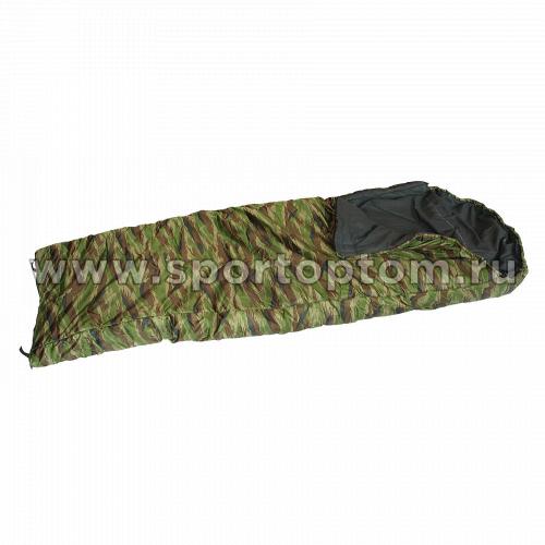 Спальник SM одеяло с капюшоном -5-15 SM-306 90*225 см КМФ