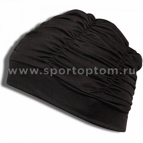 Шапочка для плавания  ткань LUCRA SM женская  с драпировкой SM-092 Черный