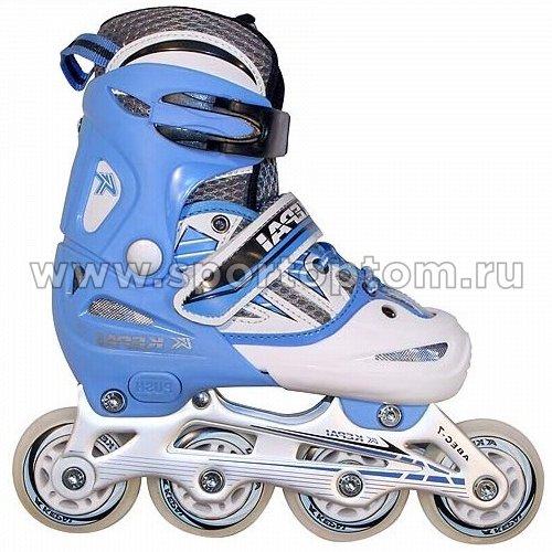 Роликовые коньки раздвижные  F1-V2 Сине-белый