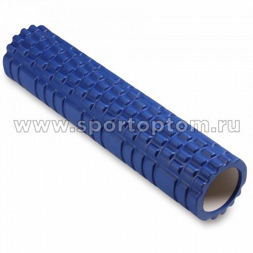 Ролик массажный для йоги INDIGO PVC  IN187 61*14 см Синий