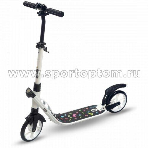 Самокат взрослый INDIGO BUTTERFLY до 100 кг, колеса 200 мм IN050 Белый