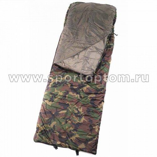 Спальник SM одеяло с подголовником 0+10 SM-310 75*220 см КМФ