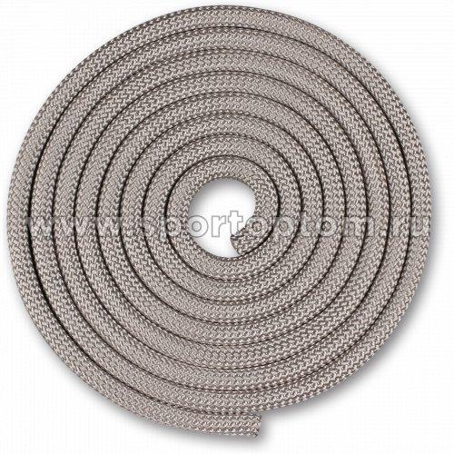 Скакалка для художественной гимнастики Утяжеленная 150 г INDIGO SM-121 2,5 м Серебряный