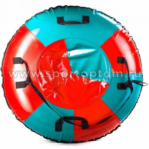 Санки Ватрушка Мега (армированный тент 600 ) SM-245 105 см Голубо-красный