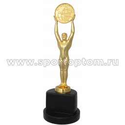 Кубок Атлет с глобусом INDIGO h30,5см (серебро, статуэтка) 8819 G