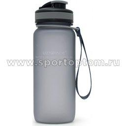 Бутылка для воды с сеточкой и мерной шкалой UZSPACE 650мл тритан 3030 Серый матовый (1)