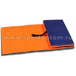 Коврик гимнастический детский INDIGO SM-043 150*50 см Оранжево-синий