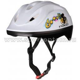 Шлем велосипедный детский INDIGO GO 8 вентиляционных отверстий IN071  M Белый